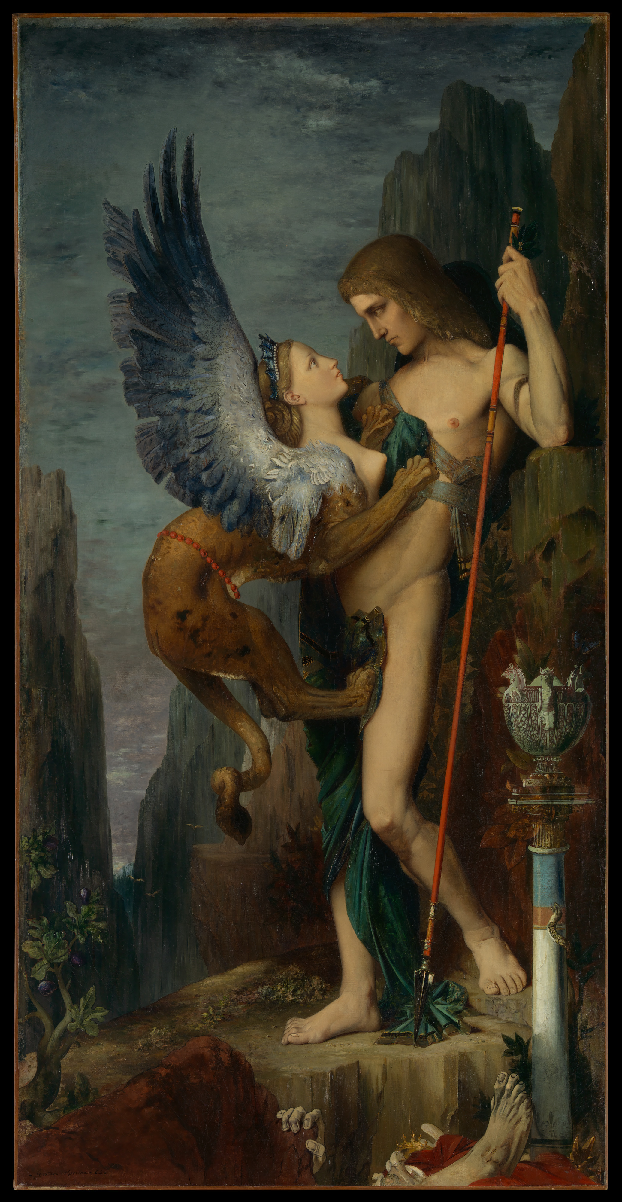 Oedipus_and_the_Sphinx Gustave Moreau 1864